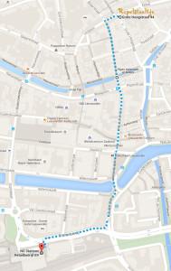 kaart route